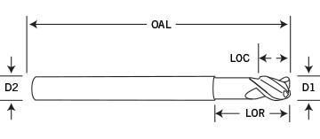 3 Flute Silverback Neck Relieved Diagram