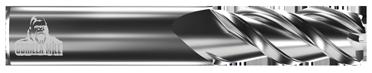 "1/4"" Diameter Radius End (3FSI)"